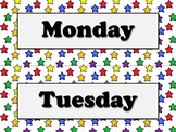 Days of the Week Calendar Strips - Superstars Theme - King Virtue