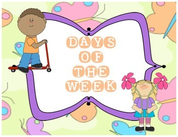 Days of the Week Cards - Bright and Colourful!
