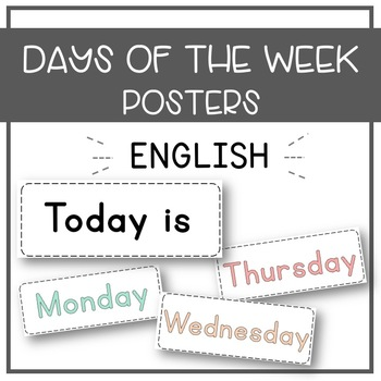 Days of the Week Cards - Freebie!