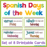 Days of the Week Cards in Spanish