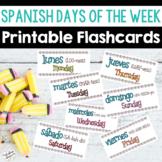 Spanish Days of the Week Printable Flashcards