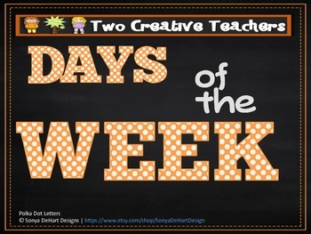 Days of the Week - Chalkboard Circles