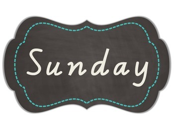 Days of the Week - Chalkboard Journal Tags