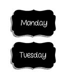 Days of the Week Chalkboard Labels
