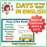 Days of the Week Chart - I go to school