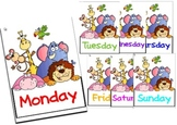 Days of the Week Charts Classroom Display