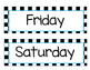 Days of the Week Checker Background