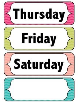 Days of the Week - Chevron