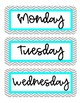 Days of the Week Chevron Labels