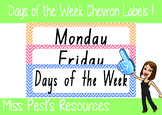 Days of the Week Chevron Labels in NSW font