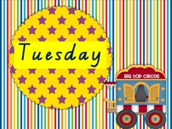 Days of the Week Circus Theme
