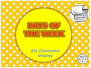 Days of the Week Classroom Display