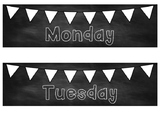 Days of the Week Classroom Labels Calendar Organization Bu