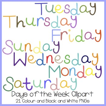 Days of the Week Clipart