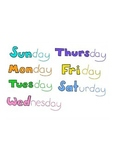 Days of the Week Colored