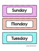Days of the Week - Colorful Chevron - For Display and Calendar Use