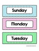 Days of the Week - Colorful Polka Dots - For Display and C