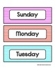 Days of the Week - Colorful Stripes - For Display and Calendar Use