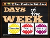 Days of the Week Colourful Spotted Circles Theme