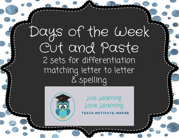 Days of the Week Cut & Paste