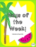Days of the Week Cut/Paste Activity!