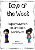 Days of the Week - Cut & Paste Worksheet