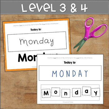 DAYS OF THE WEEK Fine Motor Activity SAMPLE