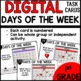 Days of the Week  DIGITAL TASK CARDS
