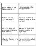 Days of the Week/Dates Spanish Task Cards (Dias y fechas)