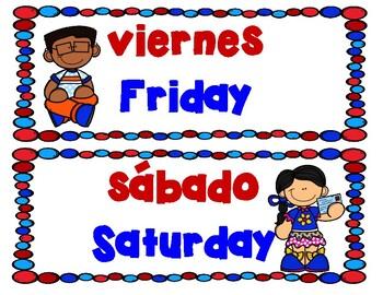 Days of the Week Dias de la Semana