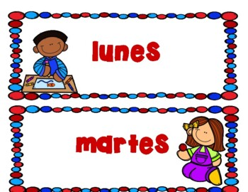 Days of the Week Dias de la Semana Spanish Version