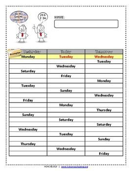 Days of the Week | Días de la semana