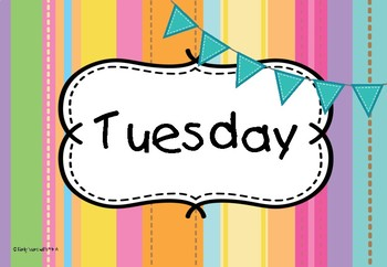 Days of the Week - Stripes Theme #ausbts18