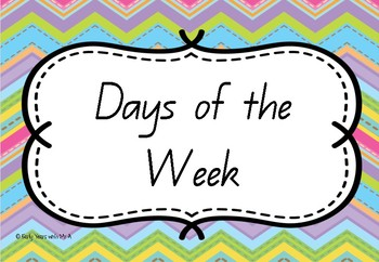 Days of the Week - Stripes Theme