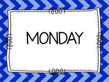 Days of the Week Display