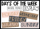Days of the Week Display   Natural Themed