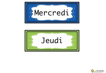 Days of the Week Display Pack in French!