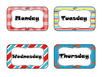 Days of the Week (Dr. Seuss Themed)