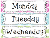 Days of the Week Drawer Labels