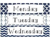 Days of the Week Drawer Labels- Nautical Theme