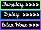 Days of the Week Drawer Labels (Sterlite)