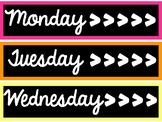 Days of the Week Drawer Labels (Sterlite)