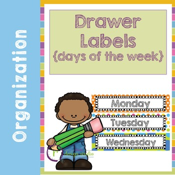 Drawer Labels for Days of the Week