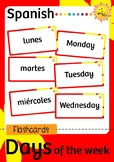 ENGLISH - SPANISH Days of the Week Flash Cards
