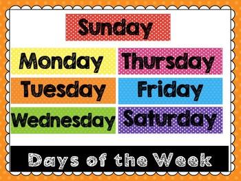 Days of the Week FREEBIE