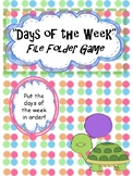Days of the Week File Folder Match-up