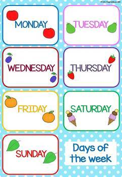 Days of the Week [Flashcards]