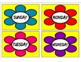 Days of the Week Flashcards For Kindergarten Printable pdf