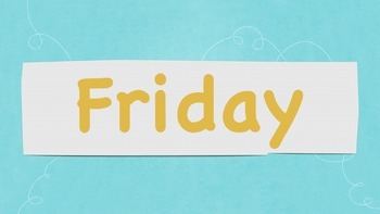 Days of the Week Flashcards Printable