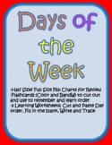 Days of the Week-Flip Chart and Activities